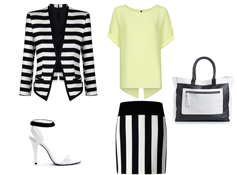 Mango-outfit-black-and-white-graphic-stripes