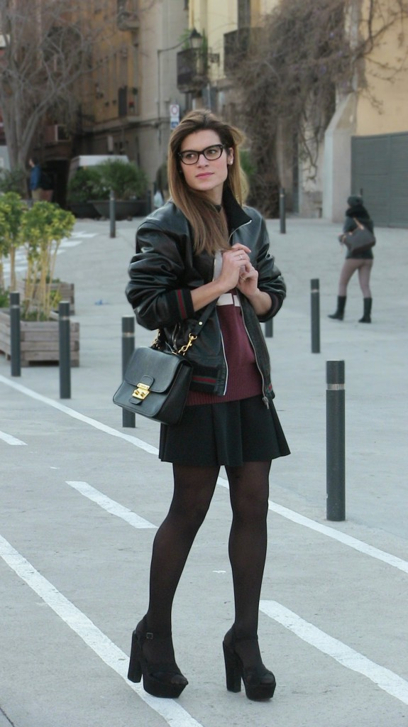 Spring+Black+Outfit+Barcelona