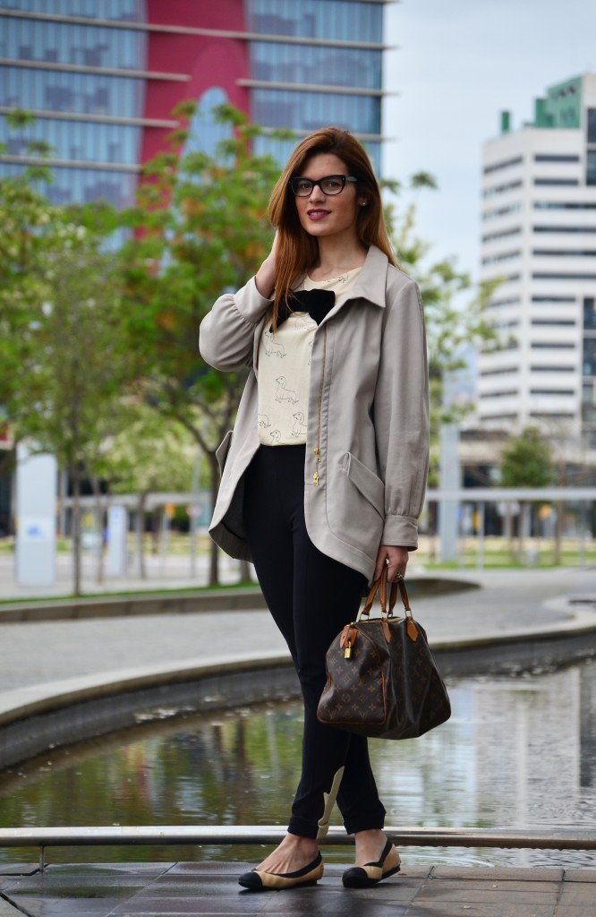 Cream-and-black-outfit