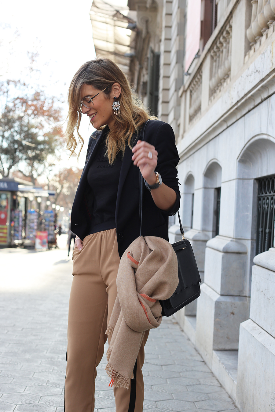 Black-and-camel-outfits