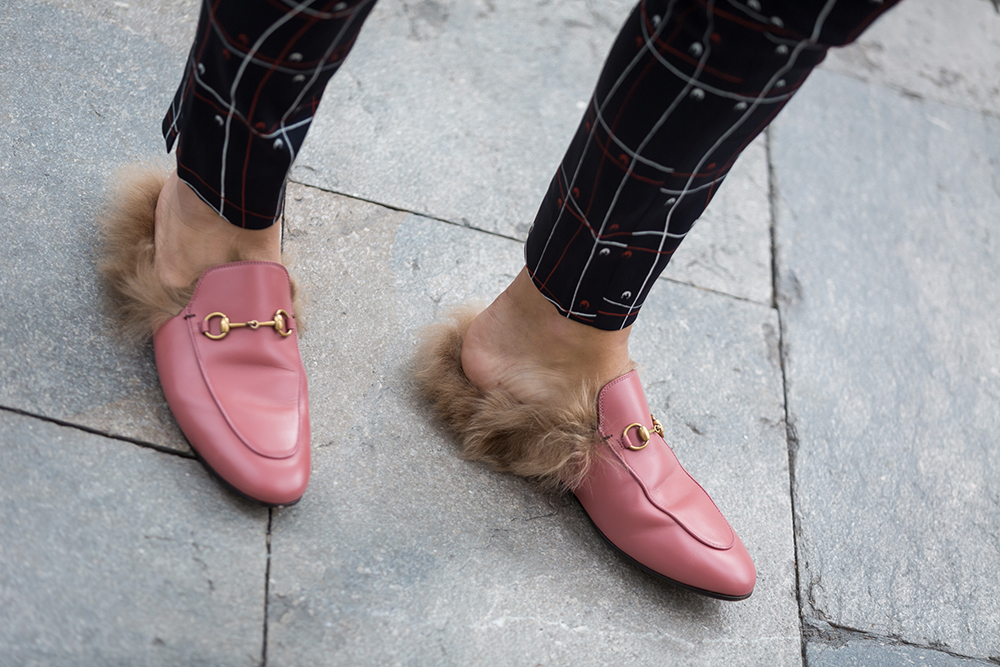 Pink Gucci loafers