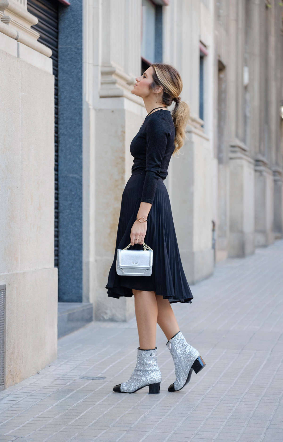 chanel_boots with tous_bag and Tous_jewelry silviaboschblog
